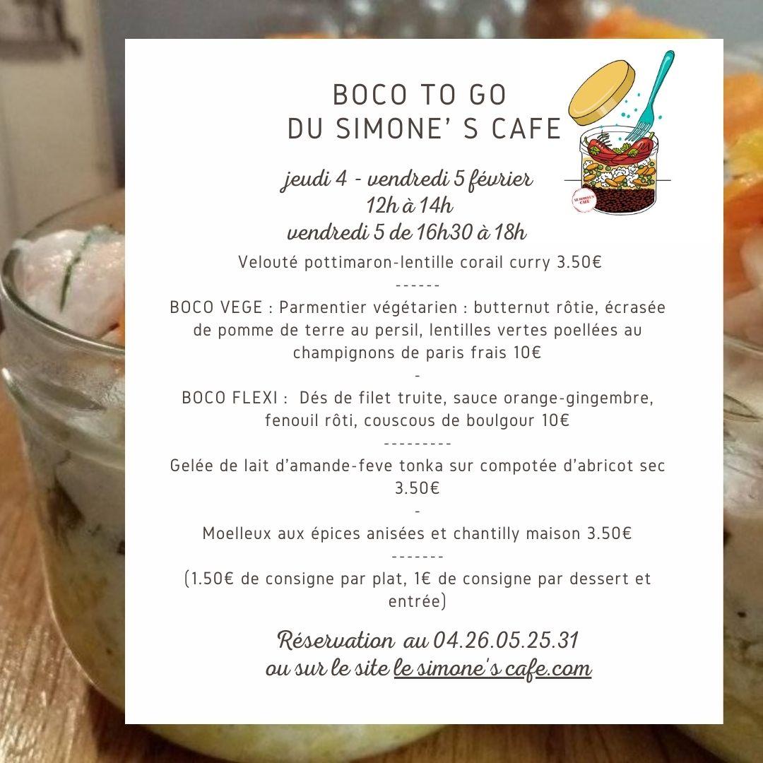 REPRISE DES «BOCO TO GO» TOUT CHAUD